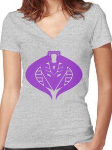 Cross Over Women's Fitted V-Neck T-Shirt