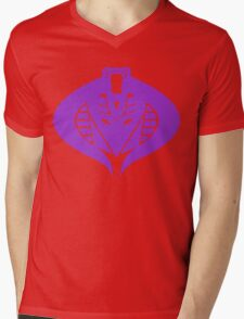 Cross Over Mens V-Neck T-Shirt