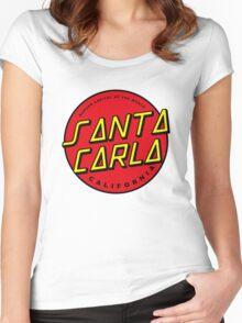 Santa Carla Skate Logo  Women's Fitted Scoop T-Shirt