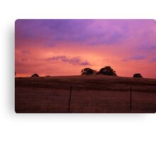 Colorful Skies Above Canvas Print