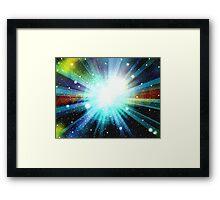 Light Fantasy Galaxy Art Design Abstract Framed Print