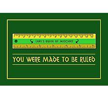 Loki's Ruler of Mischief Photographic Print