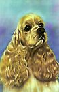 Vintage Cocker Spaniel iPhone Case by Pamela Phelps