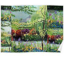 Monet's Garden Collage Poster
