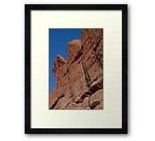Erosion of Sandstone Red Rocks Framed Print