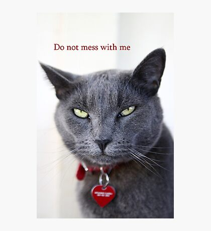 Do not mess with me Photographic Print