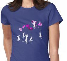 Flying Cats Womens Fitted T-Shirt