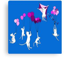 Flying Cats Canvas Print