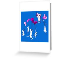 Flying Cats Greeting Card