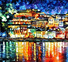PARGA - GREECE - OIL PAINTING BY LEONID AFREMOV by Leonid  Afremov