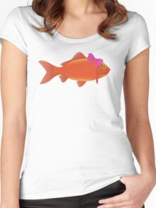 Le Femme Fish. Women's Fitted Scoop T-Shirt