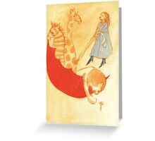 The Red Umbrella  Greeting Card