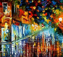 WASHED BOULEVARD - OIL PAINTING BY LEONID AFREMOV by Leonid  Afremov