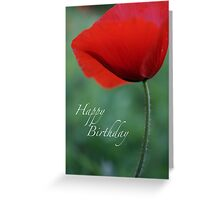 Poppy Birthday Greeting Card