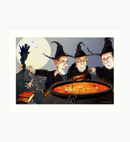 George Osborne and Witch Pals Art Print