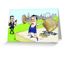 Osborne and Coe's Economic Olympics Greeting Card