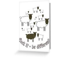 Flock It - Be Different Greeting Card