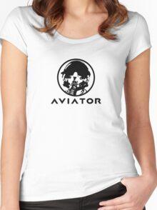 Aviator Fighter Pilot Women's Fitted Scoop T-Shirt