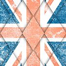 Union Jack Grunge and Diamond Drop Iphone case by Moonlake