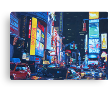 New York City Times Square Traffic and City Lights Canvas Print