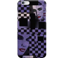Abstract Retro Square Checker Face iPhone Case iPhone Case/Skin