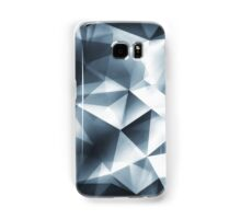 Abstract geometric triangle pattern ( Carol Cubism Style) in ice silver - gray Samsung Galaxy Case/Skin