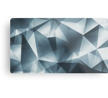 Abstract geometric triangle pattern ( Carol Cubism Style) in ice silver - gray Metal Print