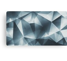 Abstract geometric triangle pattern ( Carol Cubism Style) in ice silver - gray Canvas Print