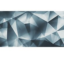 Abstract geometric triangle pattern ( Carol Cubism Style) in ice silver - gray Photographic Print