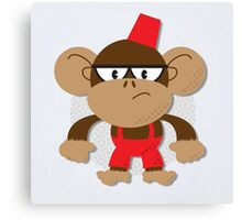 Grumpy Monkey Canvas Print