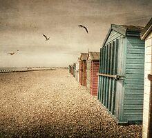 Hayling Island Beach Huts by Nicola Smith