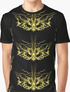 gold mask on Black Graphic T-Shirt
