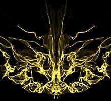 gold mask on Black by HHarrabi