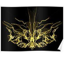 gold mask on Black Poster