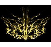 gold mask on Black Photographic Print