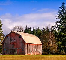 The Orange Barn Near Woodburn by Marvin Mast
