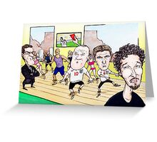 South African World Cup England Daily Star Cartoon Greeting Card