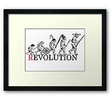 Evolution of Revolution Framed Print
