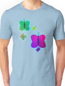 Retro-Bright Butterflies Unisex T-Shirt