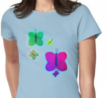 Retro-Bright Butterflies Womens Fitted T-Shirt