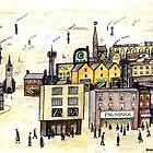 Lowry e-High Street Pastiche Illustration by GaryBarker