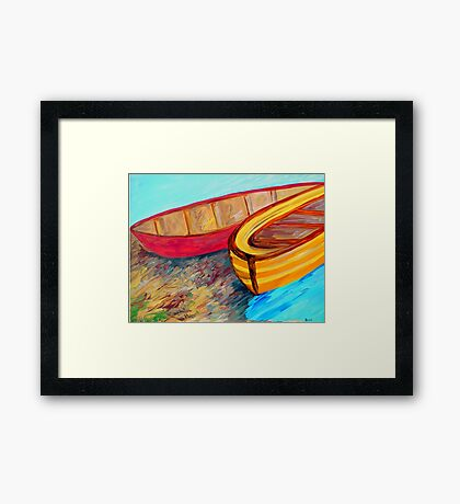 Boats in Waiting Framed Print