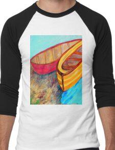 Boats in Waiting Men's Baseball ¾ T-Shirt