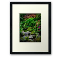 Stones in Reflection Framed Print