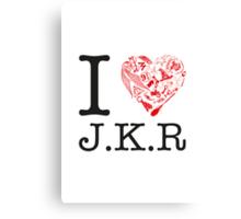 I <3 JKR Canvas Print