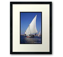 Felucca on the Nile  Framed Print