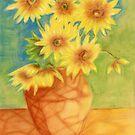 Sunflowers Ala Van Gogh by Karen Clark