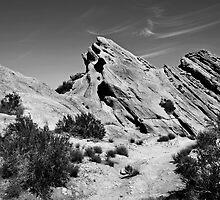 Black and white of Vasques Rocks, Aqua Dulce, Ca. by philw