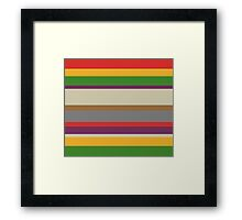 The Doctor's Scarf Framed Print