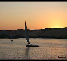 Sunset on the Nile  by Jonathan  Jarman